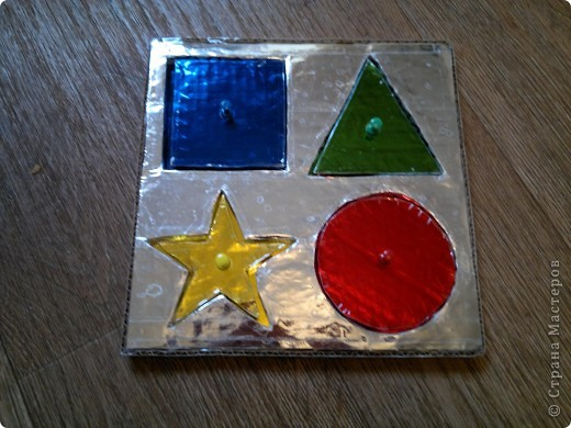 Вот решила сделать Егорке рамки-вкладыши) будем изучать цвета и геометрические фигуры фото 1