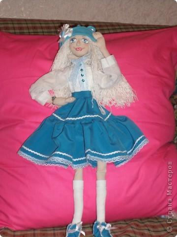 Куколка создавалась под впечатлением первой продажи . Куколка Лолита нашла свою хозяйку.Я очень рада!.Честно говоря, даже не думала продавать свои работы. Все предыдущие были подарены. фото 1