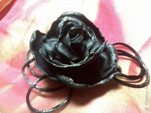 Роза из ткани.  фото 2