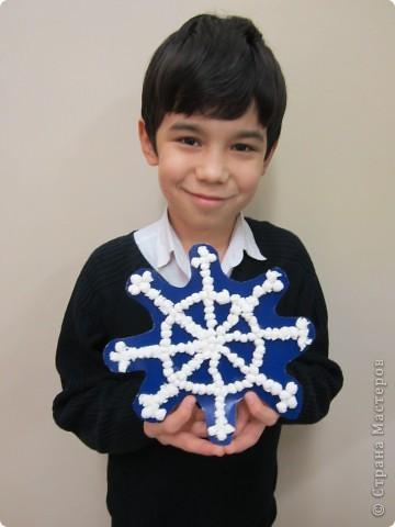 Лучшие работы моих учеников-пятиклассников. Аппликация из столовых салфеток. фото 2