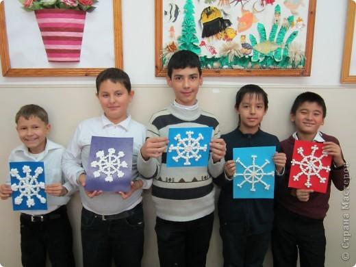 Лучшие работы моих учеников-пятиклассников. Аппликация из столовых салфеток. фото 1