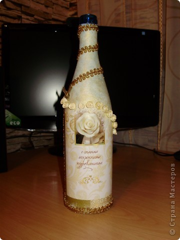 Декор бутылок и бокалов фото 1