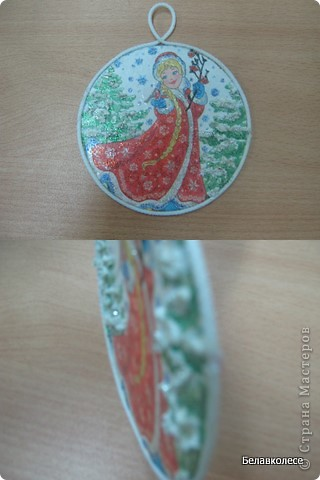 Вот и начал работу мой кружок по декорированию предметов в стиле декупаж!!! Первое занятие начали с декора дисков.наклеивание салфетки методом файла. фото 7