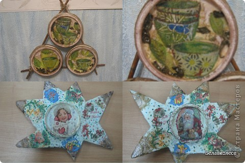 Вот и начал работу мой кружок по декорированию предметов в стиле декупаж!!! Первое занятие начали с декора дисков.наклеивание салфетки методом файла. фото 8