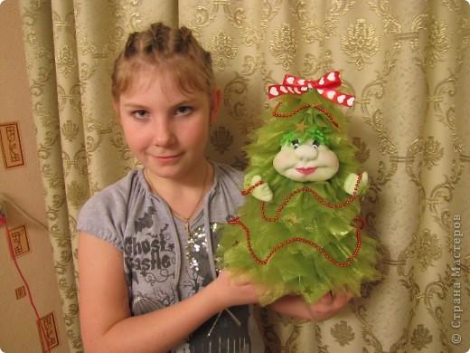 Ёлочка, ёлочка - зелёная иголочка.  Иголочки из органзы. фото 2
