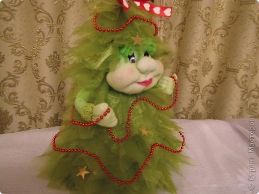 Ёлочка, ёлочка - зелёная иголочка.  Иголочки из органзы. фото 1