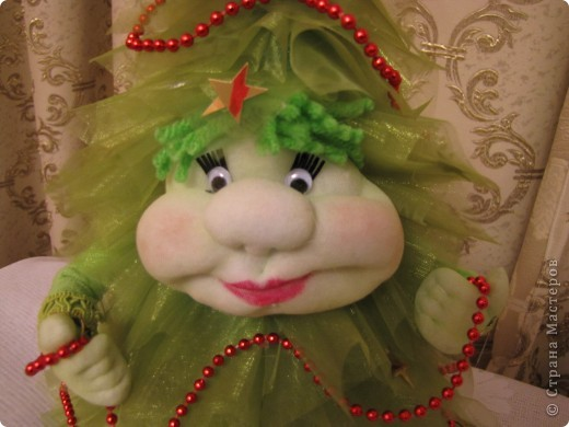 Ёлочка, ёлочка - зелёная иголочка.  Иголочки из органзы. фото 3