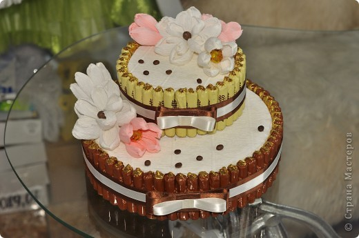 Тортик из конфет на день рождение начальницы! фото 2
