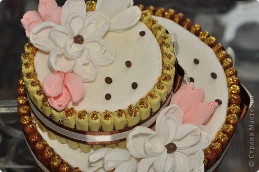 Тортик из конфет на день рождение начальницы! фото 3