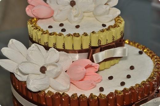 Тортик из конфет на день рождение начальницы! фото 4