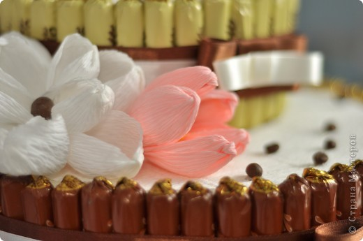 Тортик из конфет на день рождение начальницы! фото 5
