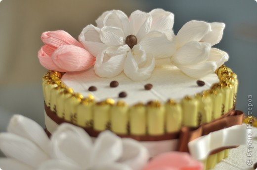 Тортик из конфет на день рождение начальницы! фото 6