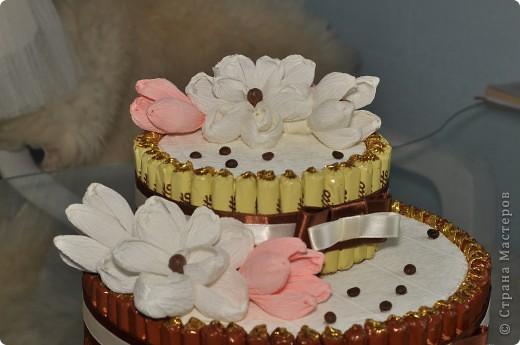 Тортик из конфет на день рождение начальницы! фото 7