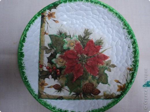 Новогодние тарелочки фото 5