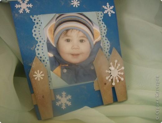 Магнитик-рамочка для моего младшенького. Фото сделано почти год назад. фото 2