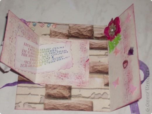 Как-то я быстренько устала от новогодних блестяшек и сделала открытку для себя любимой. Скромно, почти вся в двух цветах. фото 15