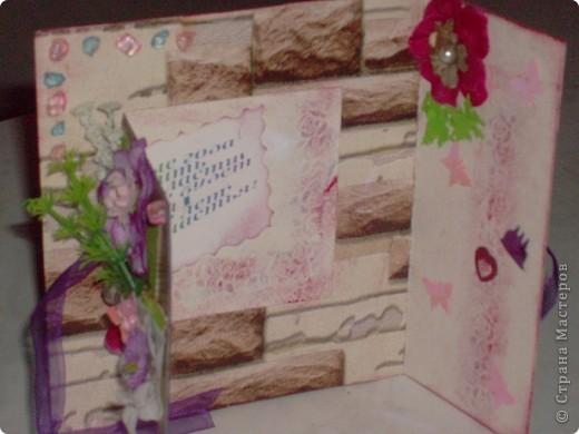 Как-то я быстренько устала от новогодних блестяшек и сделала открытку для себя любимой. Скромно, почти вся в двух цветах. фото 16