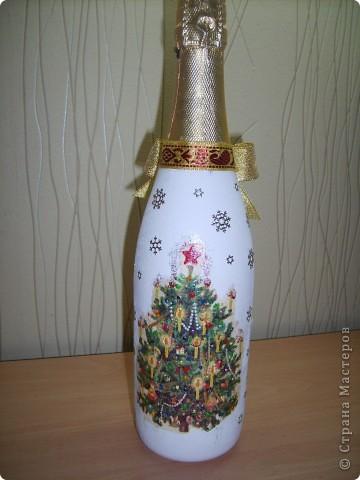 Новые новогодние бутылочки  фото 4