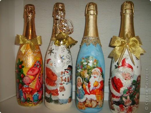 Новые новогодние бутылочки  фото 5