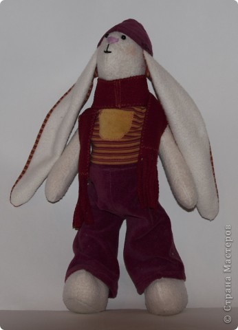 Тильда заяц Гришка фото 3