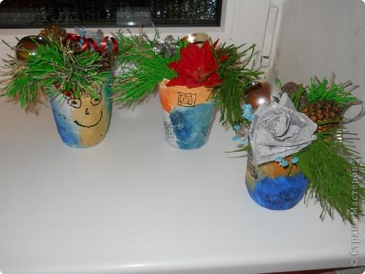 думали мы с детьми в школе, как украсить столы в школьной столовой, чтобы  яркости создать и праздничного настроения,,,что бы  не громоздко смотрелось на столах и было сделано своими руками фото 1