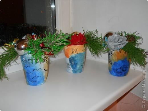 думали мы с детьми в школе, как украсить столы в школьной столовой, чтобы  яркости создать и праздничного настроения,,,что бы  не громоздко смотрелось на столах и было сделано своими руками фото 13