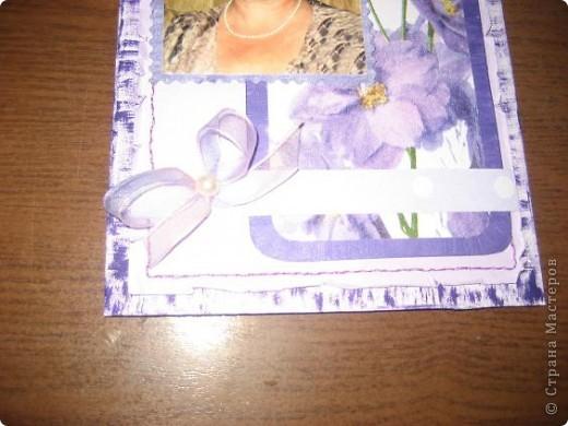 Захотелось сделать открытку в сиреневом цвете-очень его люблю...Делалась открытка на юбилей сестренке. фото 2