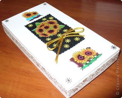Вот такую коробочку с подарком внутри я подарила одной очень хорошей женщине на День рождения фото 2