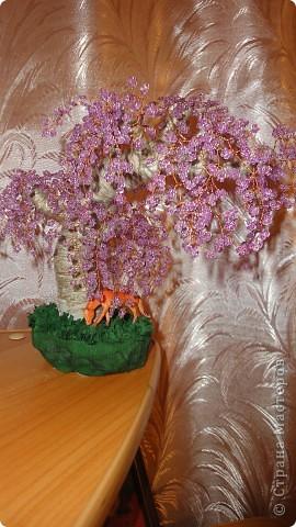 Первое бисерное деревце фото 1
