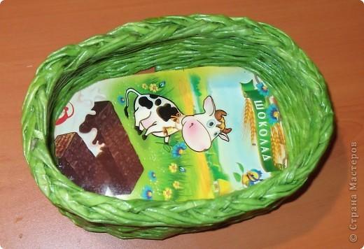 Плетенка -конфетница фото 2