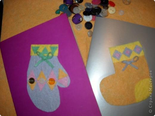 На кружке с моими второклассниками мы создали эти открытки к Рождеству, используя мягкие салфетки. фото 1