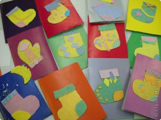 На кружке с моими второклассниками мы создали эти открытки к Рождеству, используя мягкие салфетки. фото 3