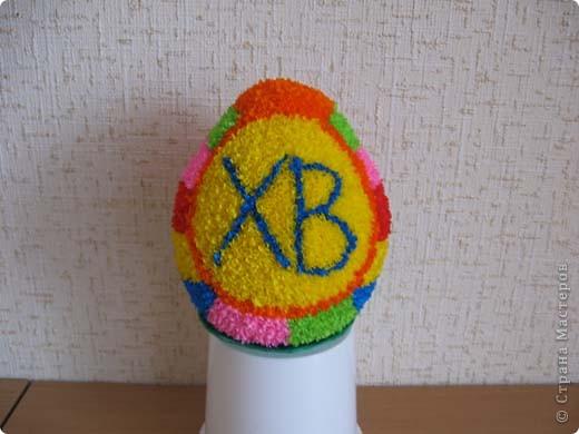 Выкладываю на ваш суд свои поделки из папье-маше. Это пасхальное яйцо заняло первое место на пасхальной церковной выставке. фото 8