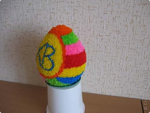 Выкладываю на ваш суд свои поделки из папье-маше. Это пасхальное яйцо заняло первое место на пасхальной церковной выставке. фото 9
