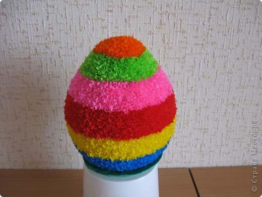 Выкладываю на ваш суд свои поделки из папье-маше. Это пасхальное яйцо заняло первое место на пасхальной церковной выставке. фото 10