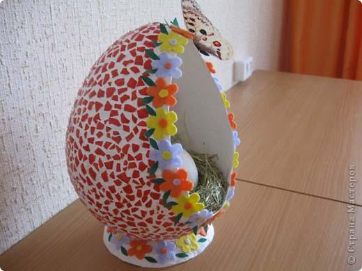 Выкладываю на ваш суд свои поделки из папье-маше. Это пасхальное яйцо заняло первое место на пасхальной церковной выставке. фото 2