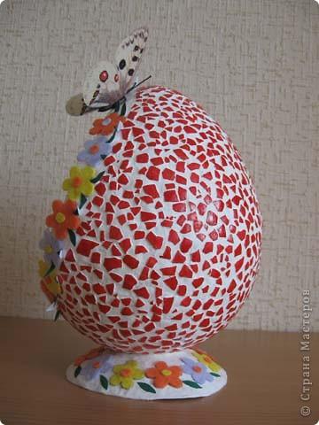 Выкладываю на ваш суд свои поделки из папье-маше. Это пасхальное яйцо заняло первое место на пасхальной церковной выставке. фото 3