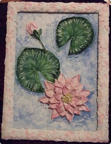 Соленое тесто, водяная лилия