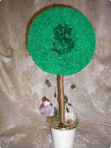 """Насмотревшись на красоту, сделанную мастерицами страны,я тоже начала """"выращивать """"деревья.Вот такое первое дерево выросло у меня. фото 3"""