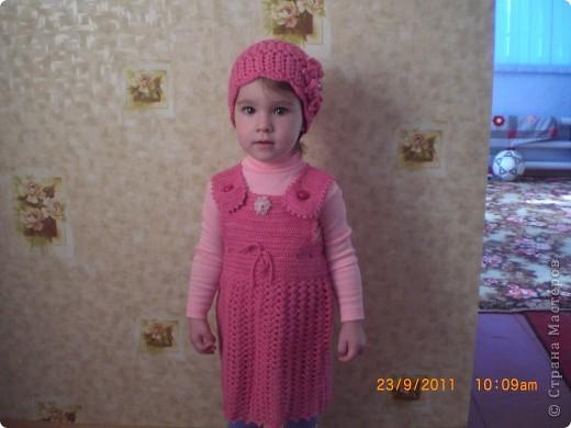 шапочка для доченьки фото 2
