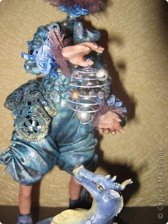 Сиволическая кукла на Новый год с дракончиком фото 3