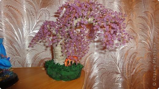 Первое бисерное деревце фото 2