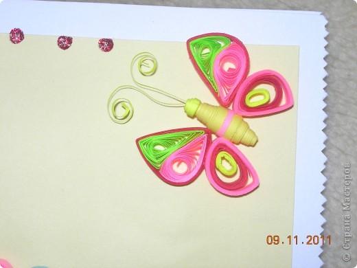 Здравствуйте, дорогие мастерицы-рукодельницы! Это мои первые работы.  В ноябре месяце в нашей семье много дней рождений и я решила сделать к подаркам  открытки ручной работы. Это самая первая открытка была подарена моей племяннице Анюте на двенадцатилетие. фото 5