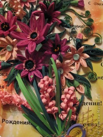 Букет КВИЛЛИНГОВЫХ цветов. фото 3