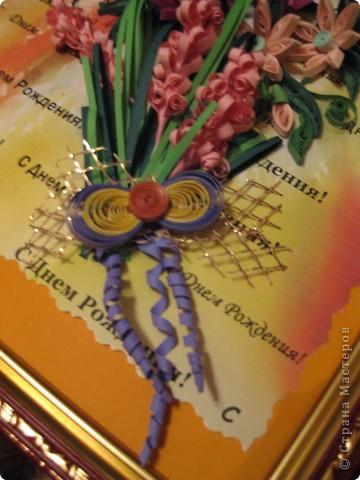 Букет КВИЛЛИНГОВЫХ цветов. фото 4