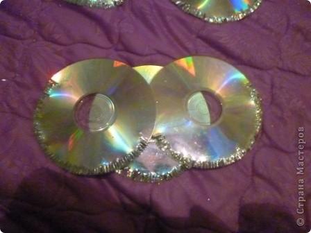 Здравствуйте! Я хочу показать вам, как я делаю сову из ненужных компакт-дисков. Начнём... фото 30