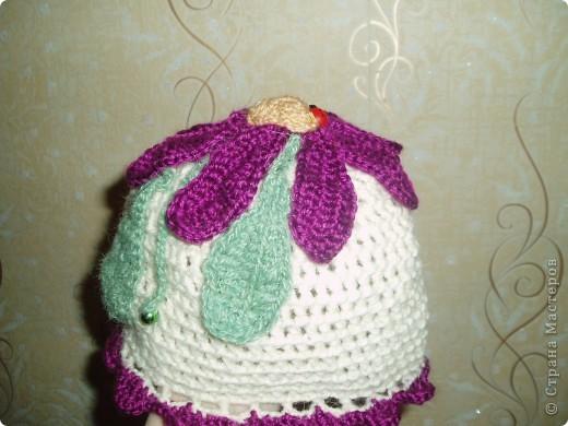 Шапочка и шарфик-галстук фото 2