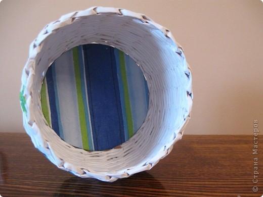 Здравствуйте! Это мои первые работы в технике плетения из бумажной лозы! фото 3