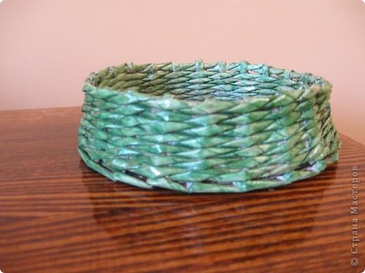 Здравствуйте! Это мои первые работы в технике плетения из бумажной лозы! фото 4