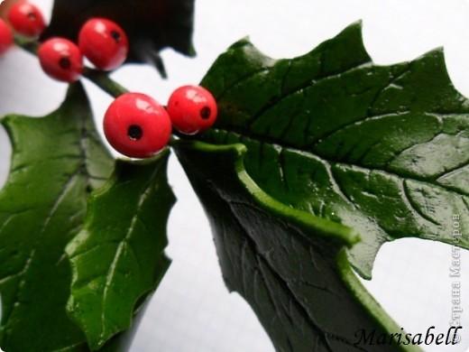 """Здравствуйте! В """"Стране"""" уже многие готовятся к Рождеству и Новому году. Очень приятно и радостно смотреть какие у всех получаются красивые рождественские украшения и поделки. Я тоже занимаюсь подготовкой к этому светлому празднику. Начала с лепки рождественского венка из остролиста. Он еще в процессе """"создания"""". фото 3"""